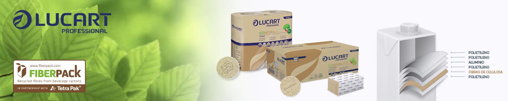 Papel ecológico Lucart fabricado a partir de materiales reciclados - Interclym